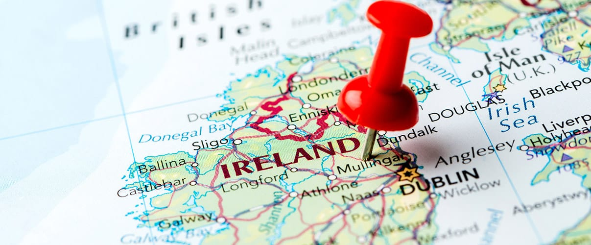 Can I drive a hire car across the border in Ireland?