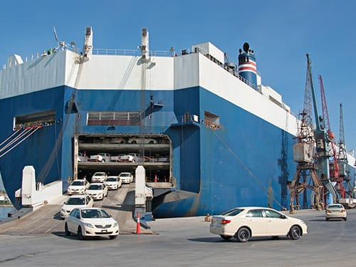 Can I take my hire car on a ferry?