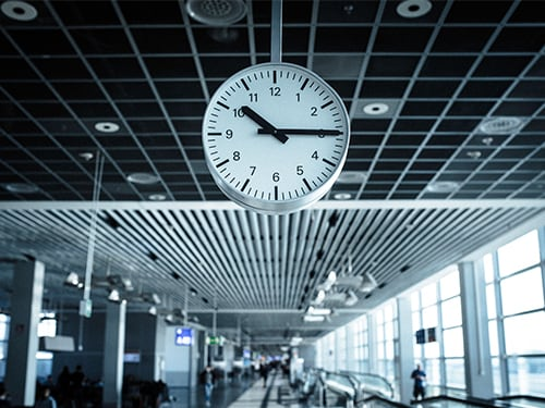 What's the best time to book my rental car at the airport?