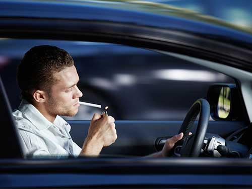 Can I smoke in a rental car?